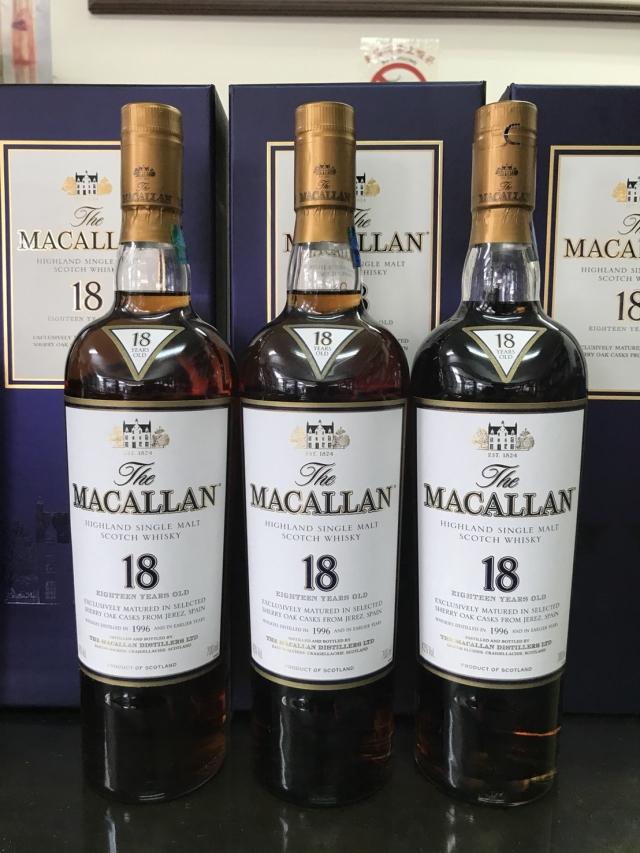 高雄收購老酒 高雄收購麥卡倫 1996 麥卡倫18年  高雄收購MACALLAN高雄老酒收購, 台南老酒收購, 屏東老酒收購老酒收購